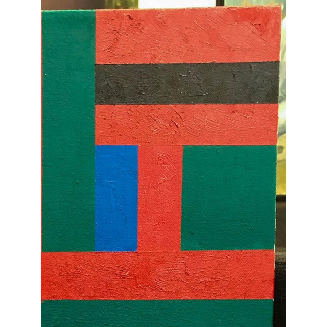 Vintage Adam Kubach Geometric Abstraction Painting - Image 2 of 7