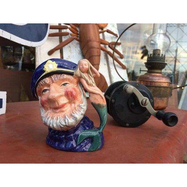 Cottage Vintage Sea Captain & Mermaid Mug For Sale - Image 3 of 6