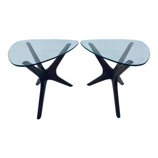Adrian Pearsall Jacks Walnut Side Tables for Craft Associates - a Pair For Sale