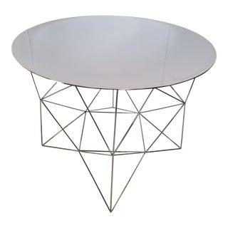 West Elm Industrial Polished Chrome Side Tables