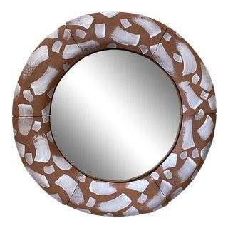 Terracotta Round Mirror For Sale