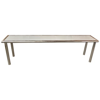 Chrome and Lacquer Long Console For Sale