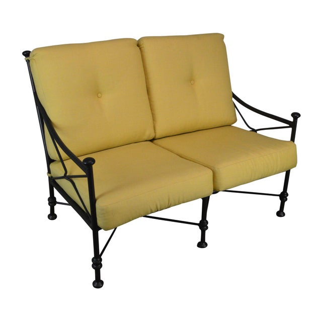 Giacometti Style Patio Love Seat by Winston For Sale - Image 13 of 13