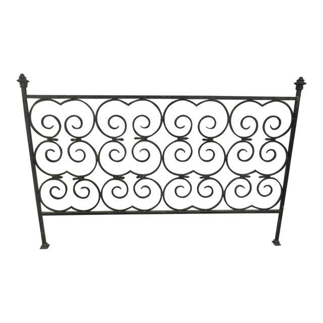 Custom Built Wrought Iron King Size Bed - Image 1 of 5