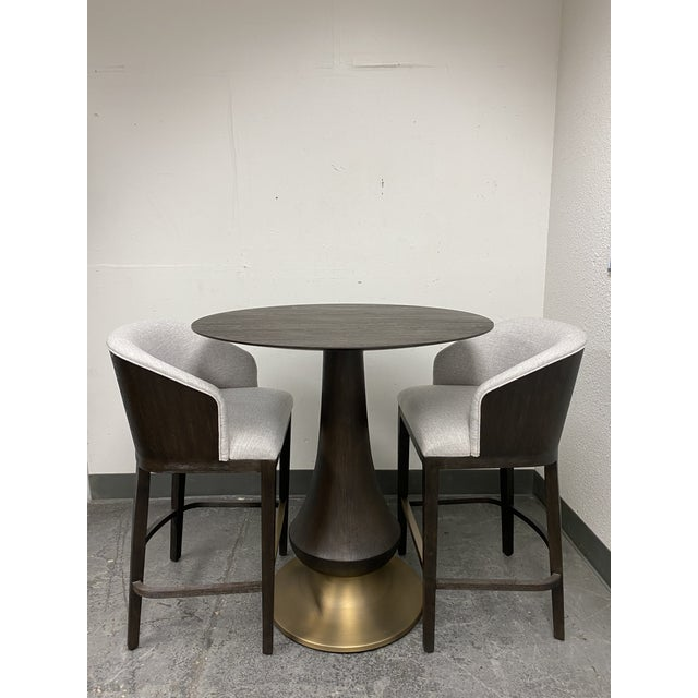 Hooker Furniture Dining Room Curata Pub Table + Two Barstools Set For Sale - Image 13 of 13