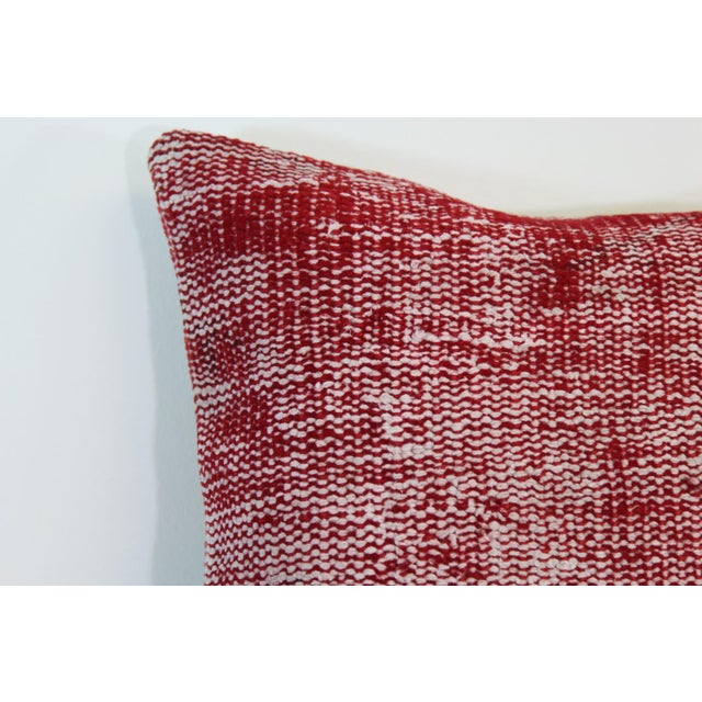 Vintage Red Overdyed Pillow Cover - Image 6 of 7