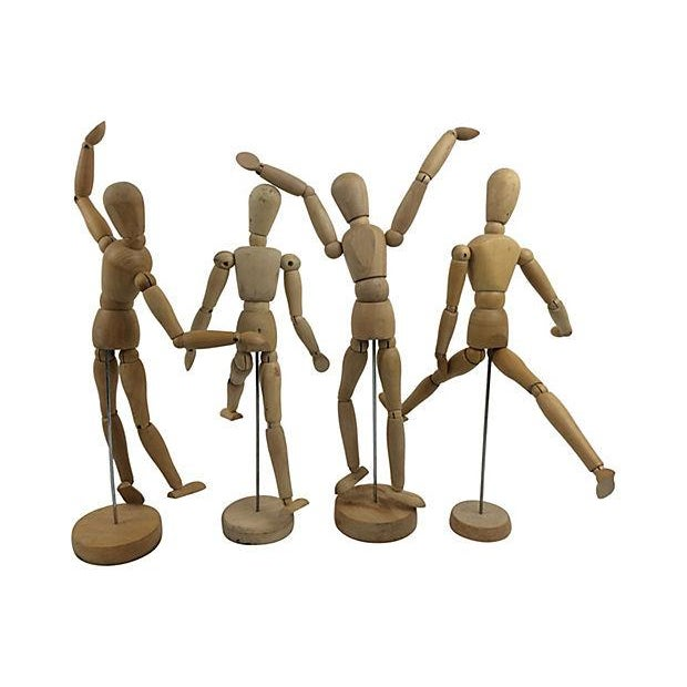 Mid-Century Wood Artists Models - Set of 4 - Image 2 of 2