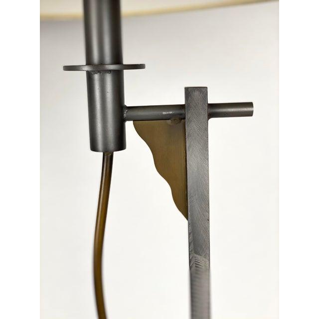 Robert Sonneman for Kovacs Memphis Post-Modern Floor Lamps - a Pair For Sale In Portland, OR - Image 6 of 13