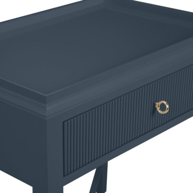Traditional Myers Nightstand, Hale Navy For Sale - Image 3 of 4