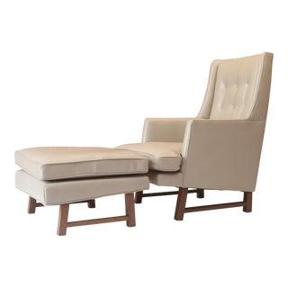 Edward Wormley for Dunbar Mid-Century Modern Chair & Ottoman - A Pair