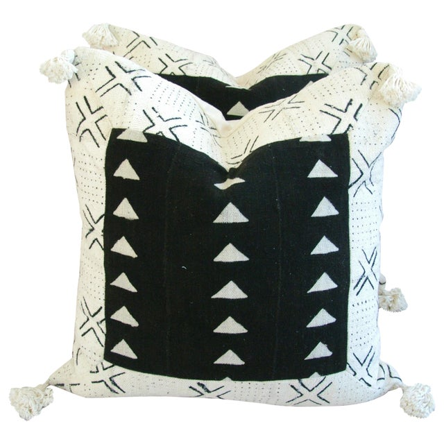 Handwoven African Tribal Textile Pillows - Pair - Image 1 of 10