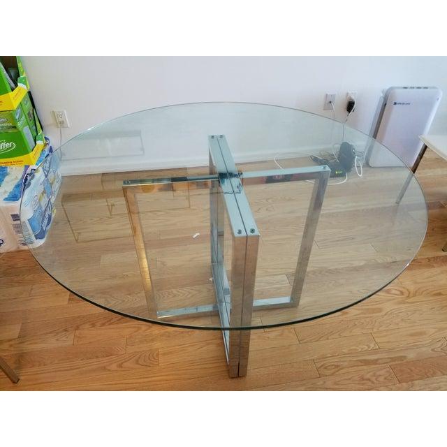 """Silverado Chrome 47"""" Round Dining Table - Image 2 of 5"""