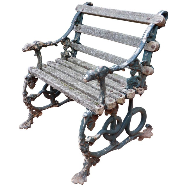 Coalbrookdale Antique Cast Iron Garden Chair For Sale - Image 9 of 9