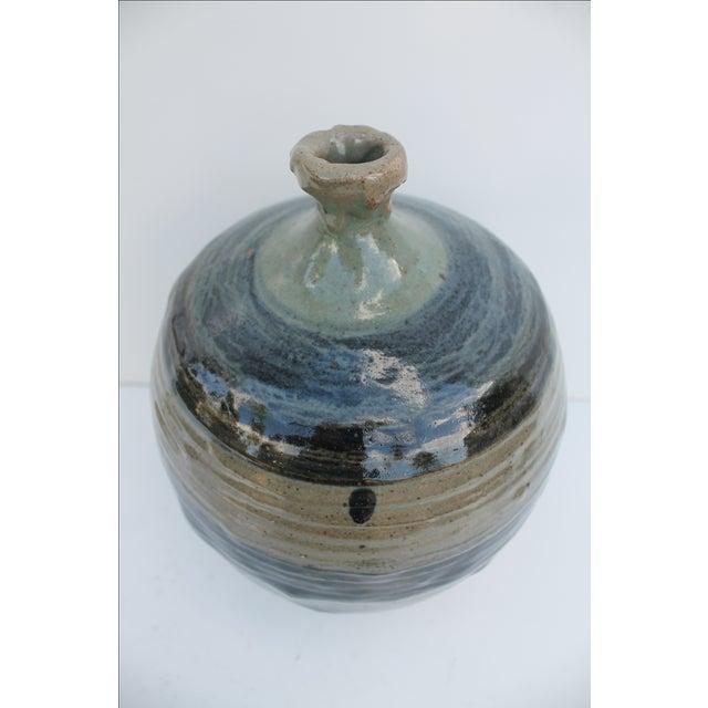 Vintage Green & Blue Glaze Bud Vase - Image 4 of 8