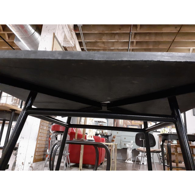 Mid-Century Modern 1960s Mid-Century Modern Outdoor Slate Dining Table With Four Sculptura Chairs by Russel Woodard - 5 Pieces For Sale - Image 3 of 9