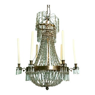 Early 19th Century Swedish Gustavian Basket-Form Chandelier For Sale