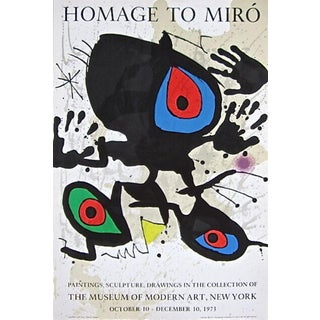 (after) Joan Miró Homage to Miro, 1973 Museum of Modern Art Exhibition Poster, Joan Miro 1973 For Sale