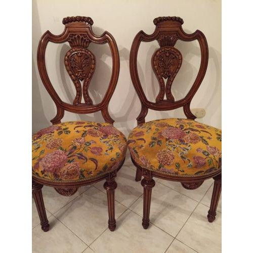 Louis XVI Louis XVI French Dining Chairs - Set of 6 For Sale - Image 3 of 8