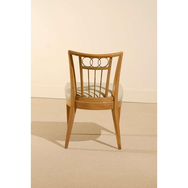 Metal Set of Four (4) Chairs in the Style of Michael Taylor For Sale - Image 7 of 11