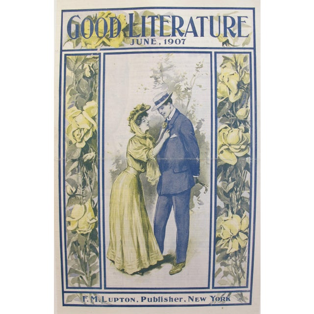 Date: 1907 Size: 10.5 x 15.5 inches This poster is the front cover of the 1907 June edition of the Good Literature...