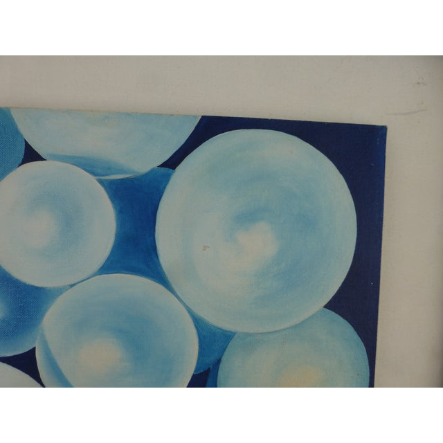 """Bubbles"" a Pop Geometric Modern Mid Century Painting For Sale - Image 4 of 13"