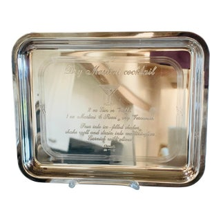 1980s Cristolfle Silver Plate Tray For Sale