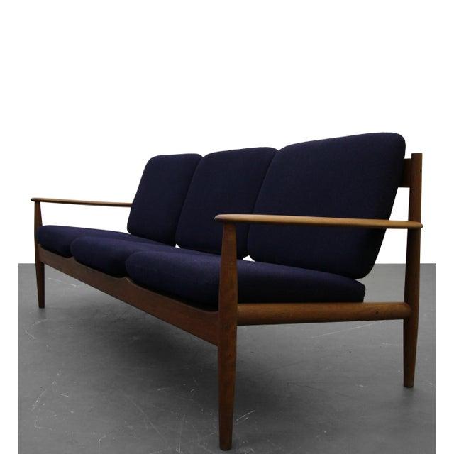 Solid Danish Teak Slat-Back Sofa by Grete Jalk for France & Son For Sale - Image 9 of 9