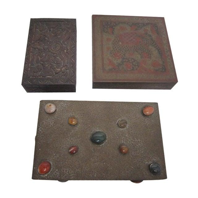 Boho India Boxes - Set of 3 - Image 1 of 6