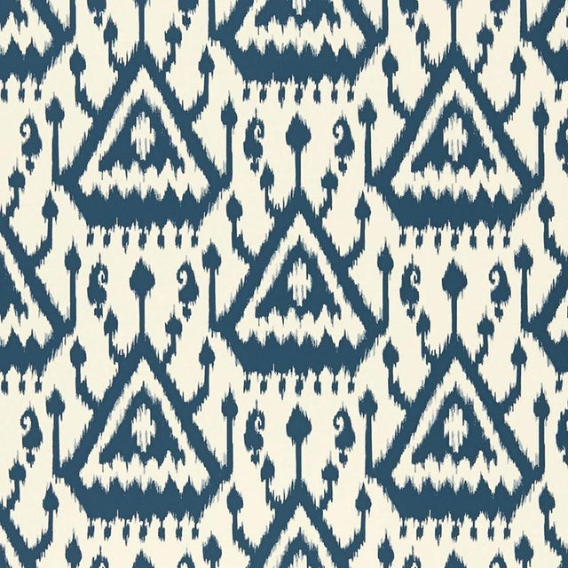 Inspired by a classic ikat woven textiles, this exotic linen print is a simplified and graphic reinterpretation of a...