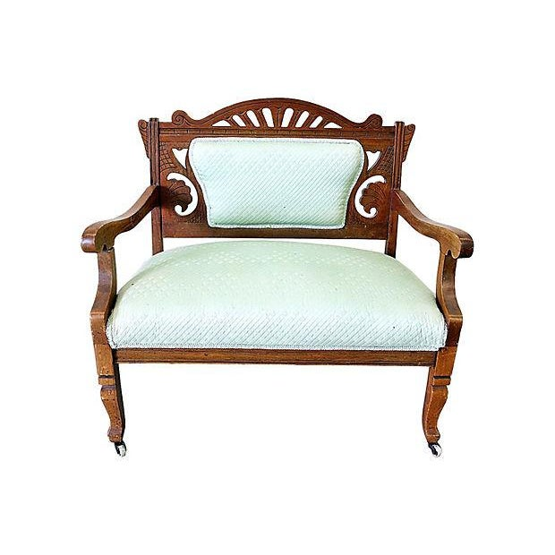 Antique Eastlake Style Settee - Image 2 of 6