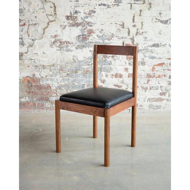 Contemporary Feast Side Chair in Walnut For Sale - Image 3 of 7