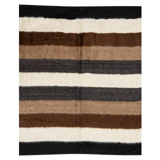Mid 20th Century Striped Vintage Blanket Kilim Rug For Sale
