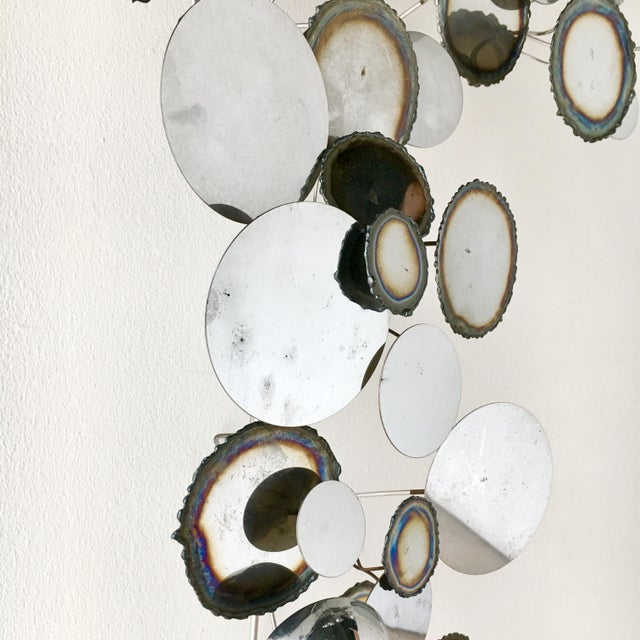Mid-Century Modern A Chrome Raindrops Wall Sculpture For Sale - Image 3 of 5