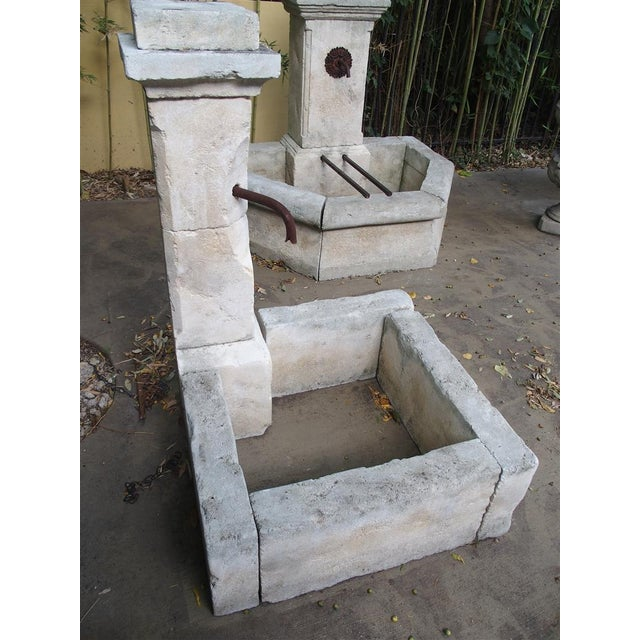 Early 20th Century Carved Limestone Corner Fountain from France For Sale - Image 5 of 9
