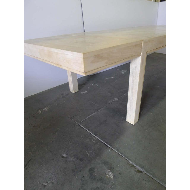 Restored Large Parson Mid-Century Dining Table For Sale - Image 4 of 11