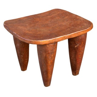Antique 19th Century Sunufo Wooden End Table For Sale