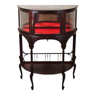 Vintage Mahogany Art Nouveau Demilune Cabinet