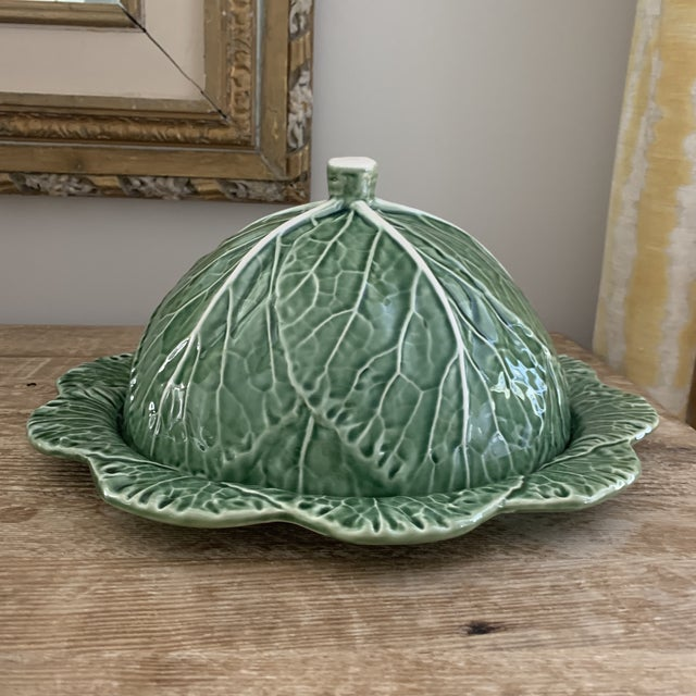 Hollywood Regency Bordallo Pinheiro Domed Cheese Platter For Sale - Image 3 of 8