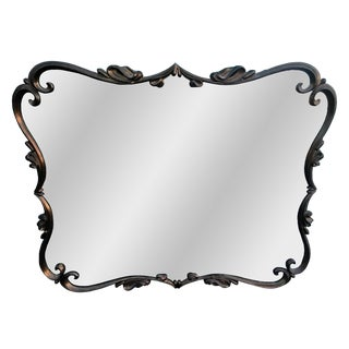 Heavy Bronze-Framed Wall Mirror For Sale