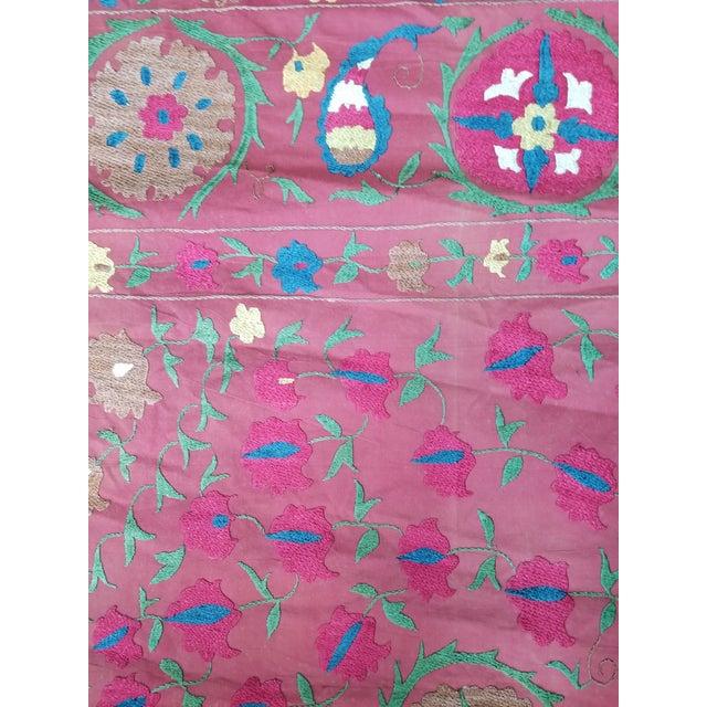 Turkish Vintage Turkish Bokara Suzani Blanket For Sale - Image 3 of 11