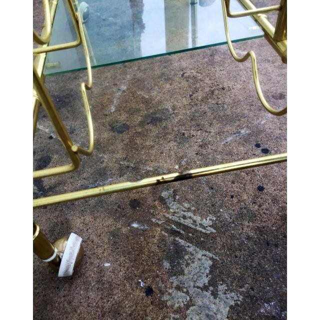 Brass Faux Bamboo Bar Cart - Image 5 of 6