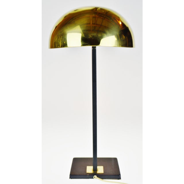 Mid-Century Modern Mid Century Brass Dome Shade Desk Lamp For Sale - Image 3 of 13