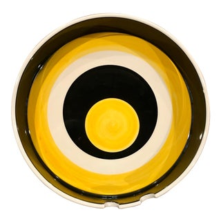 1960s Mid Century Modern Mancioli for Raymor Ceramic Ash Tray For Sale