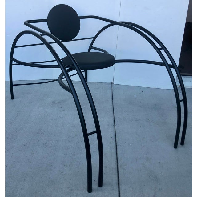 Black Quebec 69 Spider Chair by Les Amisca For Sale - Image 8 of 8