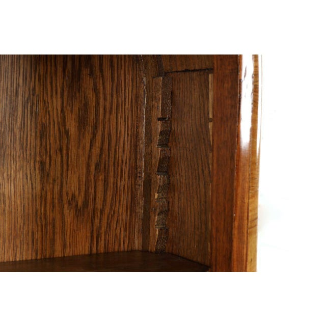 French Louis XV Style Marquetry Inlaid Bibliotheque Bookcase, Circa 1900 For Sale - Image 9 of 10
