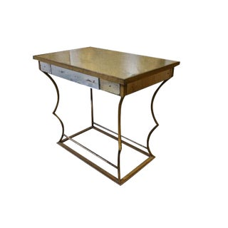 Early 1900s Bagues Gilded Iron and Glass Table