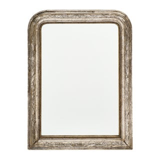Louis Philippe Period Silver Leaf Mirror For Sale