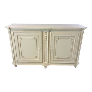 Ave Home Gustavian Style Swedish Gray Aria Buffet/Credenza For Sale