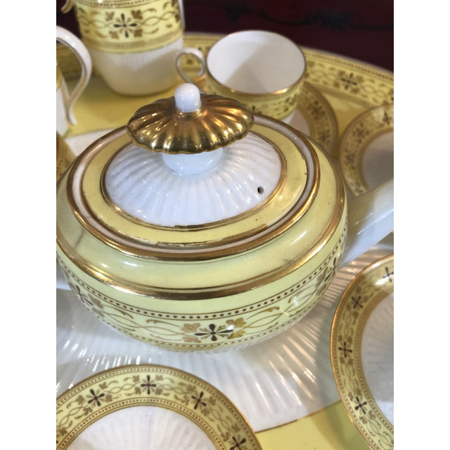 Yellow Bailey Banks Includes and Biddle Tea Set For Sale - Image 8 of 11