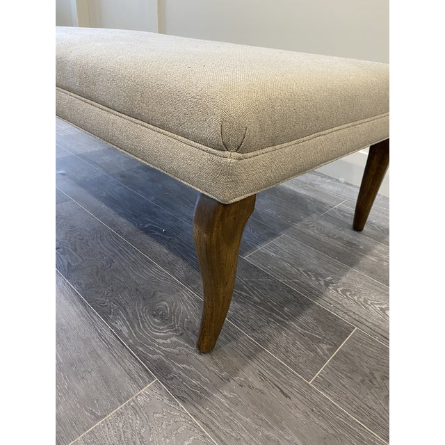Cabriole Leg Rectangular Ottoman For Sale In New York - Image 6 of 10